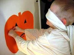 Pin the Face on the Pumpkin Halloween Kids Activity