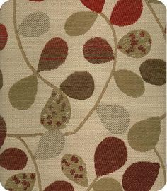 Bayberry Natural Red Woven Fabric