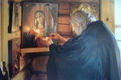 Λίγο πριν κοιμηθείς… Byzantine Icons, God Prayer, Faith In God, Religion, Prayers, Father, Christian, Painting, Advice