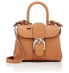 60c0dee14c55 Brillant sellier mini-bag-brown by Delvaux. Delvaux camel grained leather  Brillant Sellier