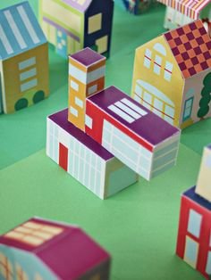 Printable Modern House - Paper Toy DIY for Kids - Print and build or construct an entire Neighborhood with 30+ houses, cars, and people! via SmallforBig.com