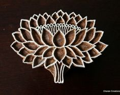 Wood Block Tjaps Carved wood stamp Indian wood by charancreations - Art - Best Tattoo Ideas Clay Stamps, Stamp Printing, Printing On Fabric, Screen Printing, Homemade Stamps, Indian Block Print, Stamp Carving, Fabric Stamping, Wood Stamp
