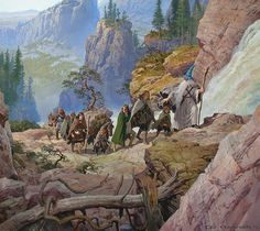 The Company Attempts the Pass of Caradhras; art by Ted Nasmith