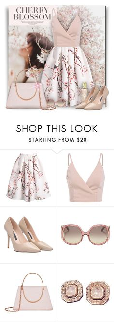 """""""Cherry Blossoms"""" by debraelizabeth ❤ liked on Polyvore featuring Yves Saint Laurent, Chloé and Ted Baker"""