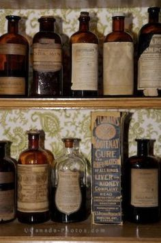 Ugh, i wish I could afford old medicine bottles! It would be cool to read the ingredients and warning labels.
