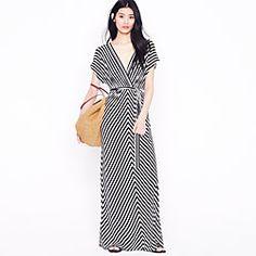 striped nautical maxi dress by jcrew