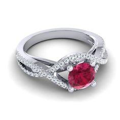 Ruby   Gemstones   Wedding Jewelry   Halo Rings