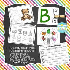 This file features over 65 pages of A-Z letter practice for your child or students!   I created this unit to work with my son who is in preschool. He was so excited to start learning letters and showing interest in the sounds and writing all of his letters, so the ABC Learning Pack was born! I hope you can use this with your own child, in preschool, Pre-K and even as great Kindergarten stations.