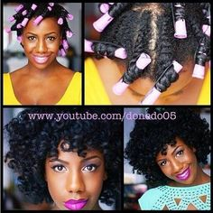 Best combination for natural twist out:- add flexi rods or roller sets