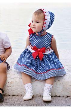 Vestido de bebe Dolce Petit Primavera Verano color azul