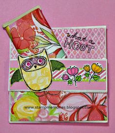 CTMH August Stamp of the month.  Card made from paper bag.