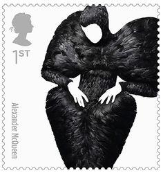 British fashion stamps, Alexander McQueen.. amazing!