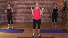 Grab your mat, 3 lb and 5 lb weights and press play for a great 10 min arm toning routine. - Pins For Your Health
