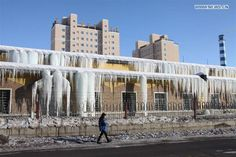 Melting snow turns into icicles in Xinjiang, Xinjiang Cuisine (@XinjiangCuisine) | Twitter