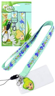 Disney Tinker Bell Detachable Lanyard ID Dangle charm Phone strap necklace NIP #Disney
