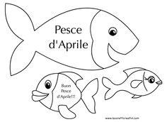 1 Aprile - Disegni di Pesci d'Aprile da stampare e colorare