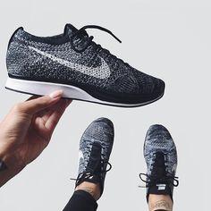"@ninpoi | Nike Flyknit Racer ""Oreo 2.0"" | #SneakerheadUK by sneakerheaduk"