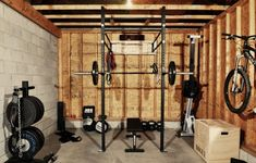 Building a garage gym almost always guarantees a savings of both time and money, and a custom garage gym equipped by Rogue means top quality. Create your dream gym here! Crossfit Garage Gym, Home Gym Garage, Crossfit At Home, Gym Room At Home, Basement Gym, Car Garage, Small Garage, Dream Garage, Basement Makeover