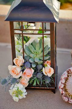 DIY Wedding Centerpieces, romantic info number 2575252939 - Elegant images to kick-start and plan a very romantic and memorable centerpiece. diy wedding centerpieces summer examples posted on this date 20190128 , Succulent Wedding Centerpieces, Lantern Centerpiece Wedding, Wedding Decorations, Table Decorations, Centerpiece Ideas, Centerpiece Flowers, Succulent Table Decor, Table Flowers, Lanterns With Flowers