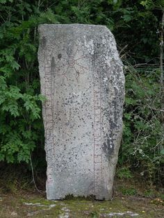 One of our colleagues came upon this beautiful runic inscription in the Swedish countryside last week, a sad, 1000-year old memorial to a lost son. Such stones are not at all uncommon in the region and can often be found with a neat information sign accompanying them. How wonderful that they survive.