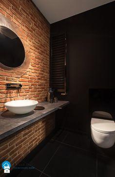 mieszkanie kawalera - Mała łazienka w bloku bez okna, styl nowoczesny - zdjęcie od Anna Krzak architektura wnętrz