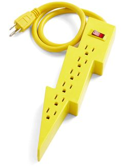 We love it when someone takes a very boring and not very attractive product and makes it cool - Lightning Bolt Power Strip