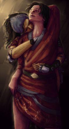 Hawke and Isabela by ~rsek on deviantART.  I always shipped Hawke & Merril, but still....