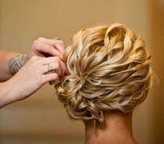 Image result for shoulder length hair updos for wedding