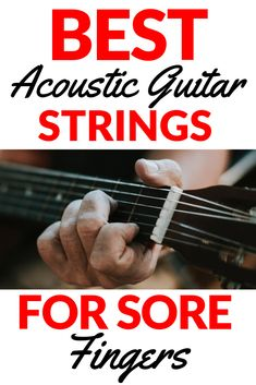 These are the best acoustic guitar strings for sore fingers. Guitar strings for sore fingers. Best Acoustic Guitar, Acoustic Guitar Lessons, Acoustic Guitar Strings, Jazz Guitar, Guitar Tips, Acoustic Guitars, Cheap Guitars, Guitar Shop, Guitar Accessories
