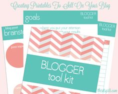 Selling printables and other easily downloaded items is a great way to monetize your blog. This article will give you creation ideas and tips on selling.