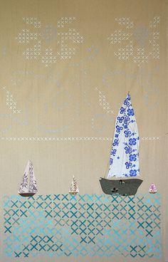 Cross Stitch Sea by Amy Rice