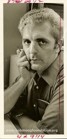 """Unknown photographer, undated, Portrait of Robert Moog ---  Today would have been Robert """"Bob"""" Moog's 78th birthday. The synthesizers he created influenced electronic (and other) music tremendously in the past decades. May his SAWl rest in peace. #robertmoog #bobmoog #moog #portrait"""