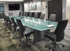 Large Glass Conference Tables And Custom Glass Boardroom Tables With - Frosted glass conference room table