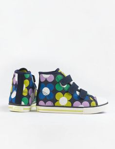 Velcro High Tops 54005 Sneakers & Plimsolls at Boden Girls Fashion Clothes, Kids Fashion, Girl Outfits, Kids C, Children, Newborn Shoes, Little Fashion, Plimsolls, Mini Boden