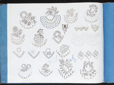 Designs for stylised floral motifs and border patterns, ca. by Sarah Bland Museum Number Folk Embroidery, Embroidery Designs, V & A Museum, Border Pattern, The V&a, Floral Motif, Art Google, Metal Working, Bullet Journal