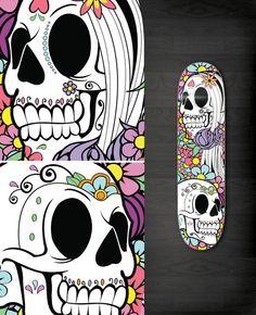 Skateboards skulls
