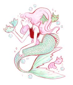 I am happy to be offering art prints of some of my favorite piece from #Mermay this year! I have been drawing a mermaid every day for the month of May, along with a lot of other awesome artists. You can see my other pieces on my Instagram @leighellexson  These prints are offered as 8x10's and 5