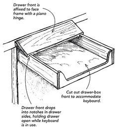Modifying a drawer for a keyboard - Fine Homebuilding Tip