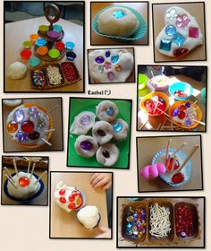 "Play dough tea party from Rachel ("",)"
