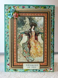 Using G45 Enchanted Forest and Anna Griffin Charlotte papers