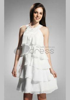 Cocktail Party / Graduation / Holiday Dress - White Plus Sizes / Petite Sheath/Column Jewel Knee-length Chiffon Dresses Uk, Cute Dresses, Dresses Online, Chiffon Dresses, Holiday Dresses, Special Occasion Dresses, Cocktail Vestidos, A Line Cocktail Dress, Cocktail Dresses