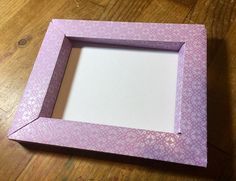 Need a frame? Using a personal cutting machine makes it that much easier. Thick enough to also be used as a shadow box. The frames w. Paper Photo Frame Diy, 3d Picture Frame, Paper Picture Frames, Paper Frames, Diy Shadow Box, Shadow Box Frames, Diy Gift Box, Diy Frame, Diy Paper