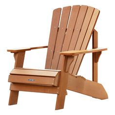 safavieh outdoor living vista brown acacia wood adirondack chair