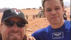The Martian di Ridley Scott: foto dal set con Matt Damon