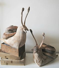 Fantasy | Whimsical | Strange | Mythical | Creative | Creatures | Dolls | Sculptures | Textile Snail Sculptures By Mister Finch