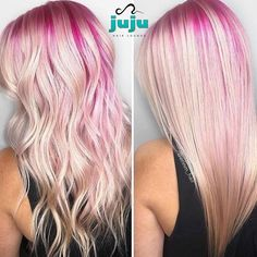 Juju Hair Lounge is Downtown Vancouver's favourite salon for good hair & good times! Pulp Riot Hair Color, Vivid Hair Color, Hair Color Pink, Cool Hair Color, Pink Hair, Hair Colours, Undercut Hairstyles, Cool Hairstyles, Hairdos