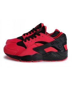 best sneakers ec874 ee396 Chaussure Nike Air Huarache Womens Rouge Noir Trainer
