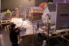 ParaNorman - The working set of Norman's neighborhood in the town of Blithe Hollow.