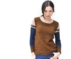 Ravelry: RhombingAround pattern by La Maison Rililie Ravelry, Pulls, Crochet, Knitting Patterns, Men Sweater, Pullover, Sleeves, Sweaters, Prussian Blue