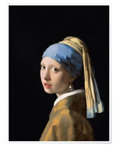 Johannes Vermeer - Girl with the Pearl Earring fine art preproduction . Explore our collection of Johannes Vermeer fine art prints, giclees, posters and hand crafted canvas products Johannes Vermeer, Gustav Klimt, Vermeer Paintings, Rembrandt Paintings, Rembrandt Art, Oil Paintings, Portrait Paintings, Painting Art, Rembrandt Portrait